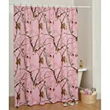 Realtree Pink Camo Shower Curtain Realtree AP Pink Camo Pattern Shower Curtain