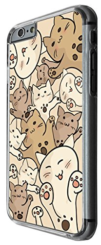 1183 - Fun Multi Cats Playfull Cute Cats Design For iphone 5 5S Fashion Trend CASE Back COVER Plastic&Thin Metal -Clear