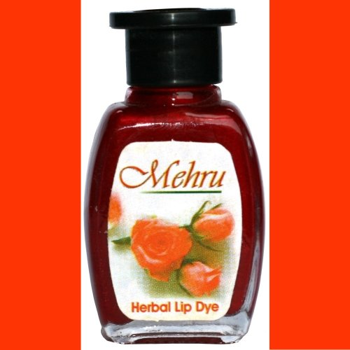 Mehru Lip Dye, Natural Herbal Lip Stain - Orange
