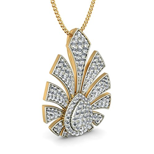 Or jaune 18 K 1,05 CT TW Round-cut-diamond (IJ | SI) Pendentif