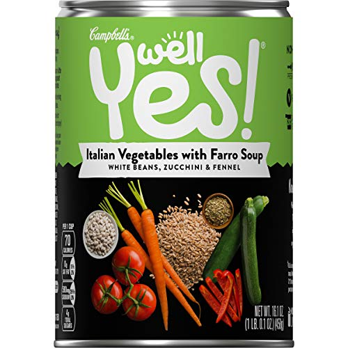Campbell's Well Yes! Soup, Italian Vegetable with Farro, 16.1 oz. Can (Pack of 12)
