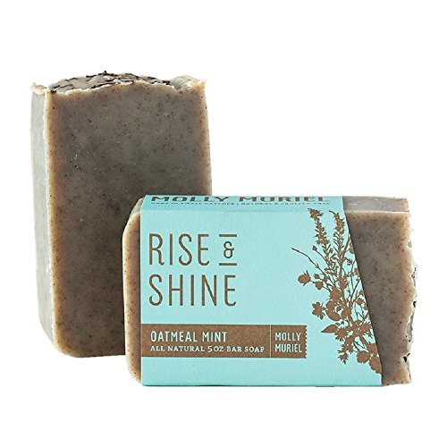 Molly Muriel Apothecary Natural Handmade Bar Soap: Rise  Shine – Exfoliating Oatmeal Mint