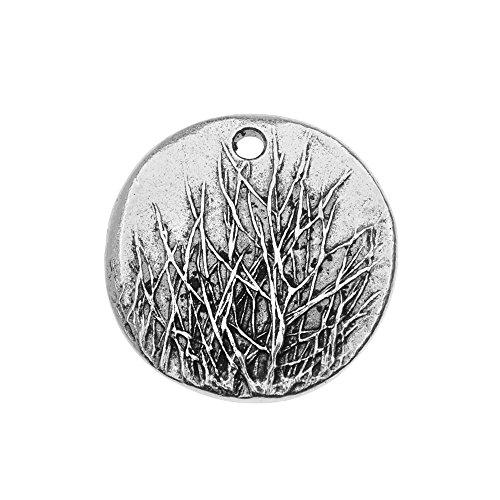 Nunn Design Charm, Rocky Mountain 20mm, 1 Piece, Antiqued Silver