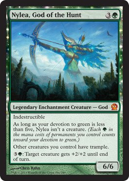 (Magic: the Gathering - Nylea, God of the Hunt (166/249) - Theros)