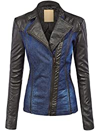 Blue Leather Womens Jacket