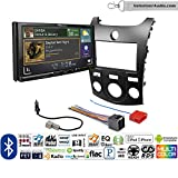 Volunteer Audio Pioneer AVH-601EX Double Din Radio Install Kit with CD/DVD Player Bluetooth USB/AUX Fits 2011-2013 Kia Forte (Black)