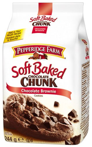 (Pepperidge Farm Soft Baked Captiva Dark Chocolate Brownie Cookies)