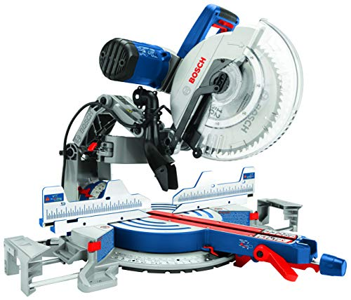 Bosch Power Tools GCM12SD - 15 Amp 12 Inch Corded Dual-Bevel Sliding Glide Miter Saw with 60 Tooth Saw Blade
