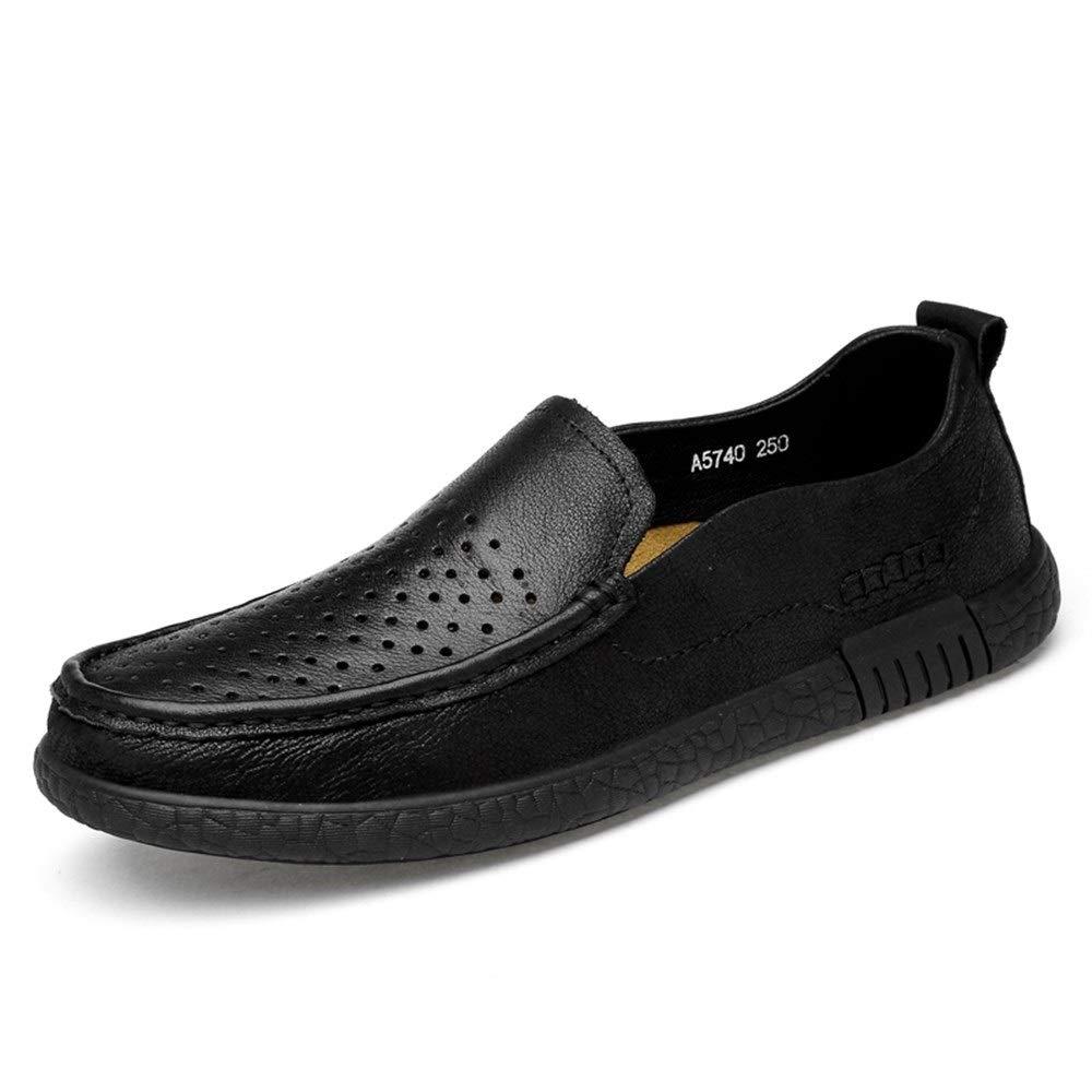 schwarz Hollow 41 EU Driving Loafer F&uu ;r M&au ;nner Business Mokassins Slip On Style OX Leder Runde Kappe Atmungsaktiv Loch Mokassins Schuhe LTJTCDHYQ