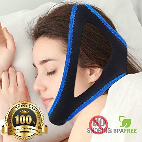 Anti Snoring Adjustable Chin Strap/Sleep Aid Device/Snoring Solution/Stop Snoring for Men & Women Have A Best Night