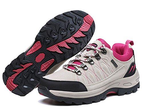 Zapatos De Deslizamiento Inferior De Senderismo Sólidos Al Aire Libre Multicolor De Varios Tamaños Beige
