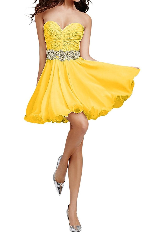 MissDressy Short Mini Sweetheart Ruffles Shining Rhinestone Cocktail Dress