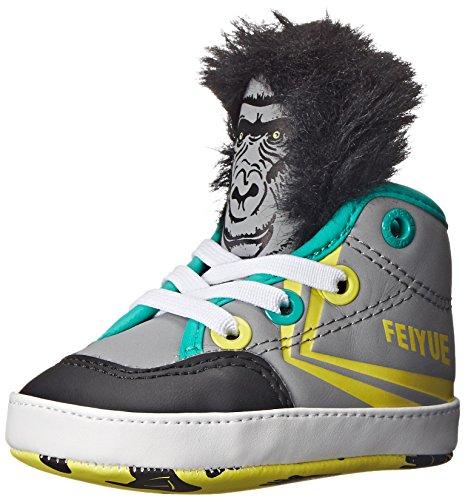 Feiyue Delta Mid Animal Hi Top Sneaker (Infant/Toddler), Grey, 4 M US Toddler