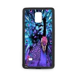 DIY Peacock Case for SamSung Galaxy note4, Custom Peacock Note4 Phone Case, Peacock Galaxy note4 Case Cover WANGJING JINDA