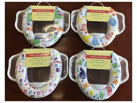 Asiento de inodoro AlayGreen® de alta calidad ecológico para bebé, suave acolchado, con asas, acolchado, suave, fácil de usar e higiénico fácil de usar e higiénico