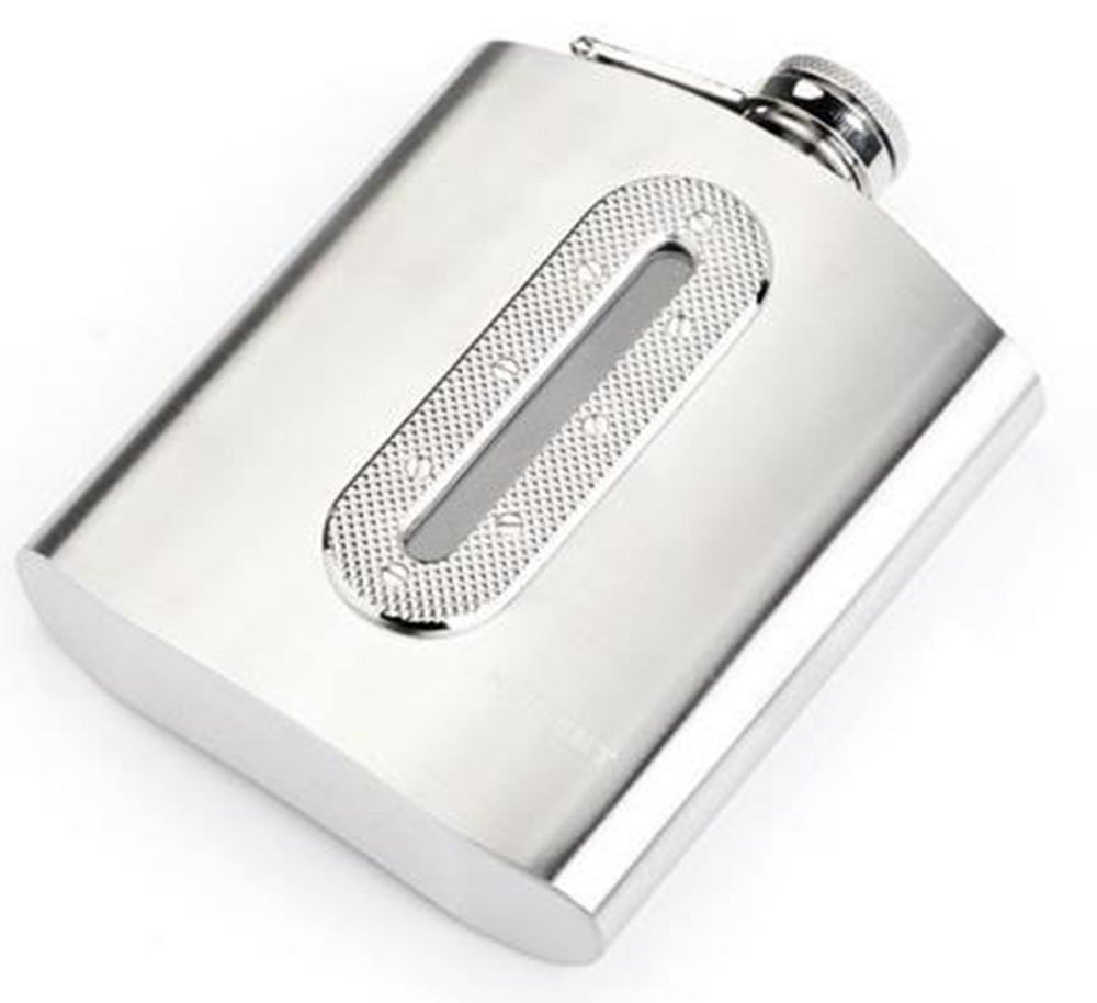 HaiYC Stainless Steel Hip Flask 7 Oz Outdoor Camping Pocket Portable 100% Leak Proof Premium Gift for Storing Whiskey/Alcohol Inner Window