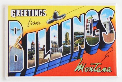 Greetings From Billings Montana Fridge - Stores Billings Montana
