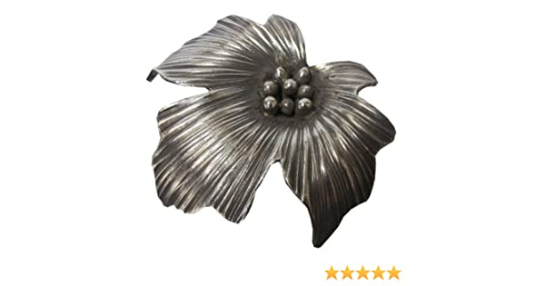 Welcome Free Shipping!.WEIGHT 9.19 G PURE 99.5/% NICE CLASSIC GENUINE THAI KAREN HILL TRIBE SILVER FLOWER PENDANT SIZE 35 x 35 MM.{ KAREAN PENDANT BOX/_2-108 }