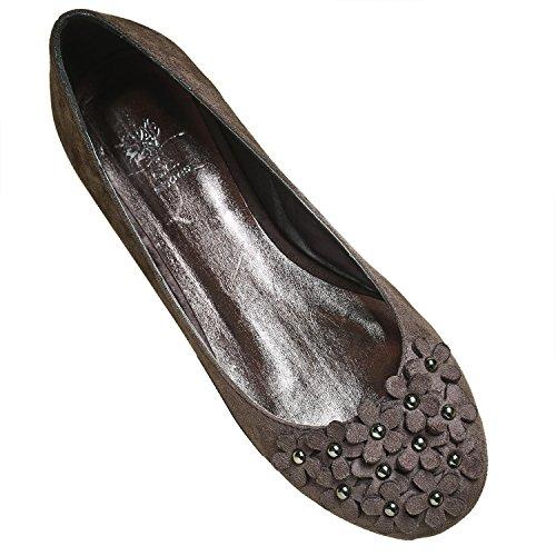 Gc Shoes Womens Shoes - Slip-On Petals Flats Grey Y5W30