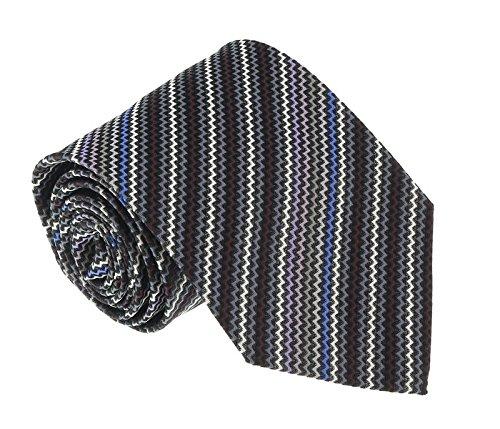 Missoni U4481 Gray/Black Sharkskin 100% Silk (Sharkskin Tie)