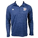 adidas NBA Men's Climalite Ultimate Long Sleeve 1/4 Zip Top