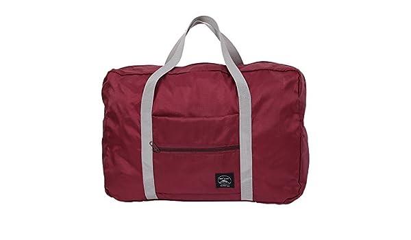 Amazon.com: eDealMax Exterior Con cremallera de agua plegable Ropa Bolso Resistente equipaje de embalaje Bolsa de almacenamiento de viajes a Borgoña: Home & ...