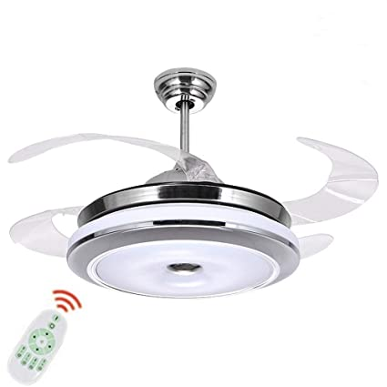 36 Inch Ceiling Fans With Lights And Remote Control Modern 4 Blade