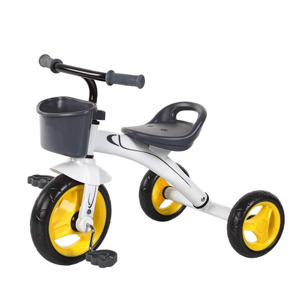 NBgy Dreirad, Kinder-Multifunktions-Dreirad, 2-6 Jahre Altes Baby-Outdoor-Dreirad Eva-Rad, 3 Farben, 54x70x45cm Weiß