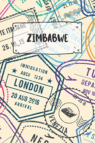 Zimbabwe: Ruled Travel Diary Notebook or Journey  Journal - Lined Trip Pocketbook for Men and...
