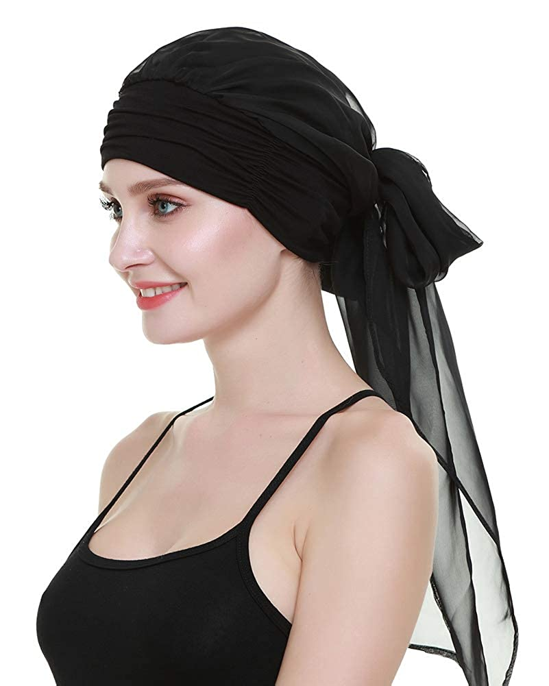 1920s Headband, Headpiece & Hair Accessory Styles Chemo Headwear Turbans For Women Long Hair Head Scarf Headwraps Cancer Hats $16.99 AT vintagedancer.com