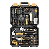 DEKOPRO 100 Piece Home Repair Tool Set,General Household Hand Tool Kit with Plastic