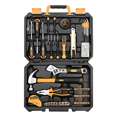 DEKOPRO 100 Piece Home Repair Tool Set,General Household Hand Tool Kit with...