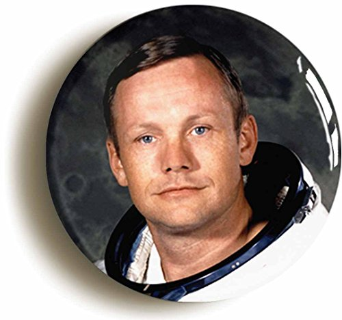 Neil Armstrong Button Pin (Size is 1inch diameter) Astronaut Apollo 11 First Man On Moon