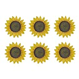 MD Group Garden Stone 6-pack Sunflower Stepping Novelty Cast Aluminum Rust-free Outdoor Decorative