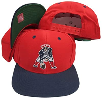 New England Patriots Red/Navy Two Tone Plastic Snapback Adjustable Plastic Snap Back Hat/Cap