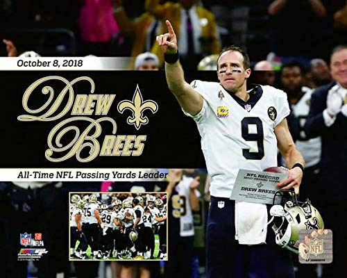 Drew Brees New Orleans Saints All-time Passing Record 2018 Action Photo (Size: 8