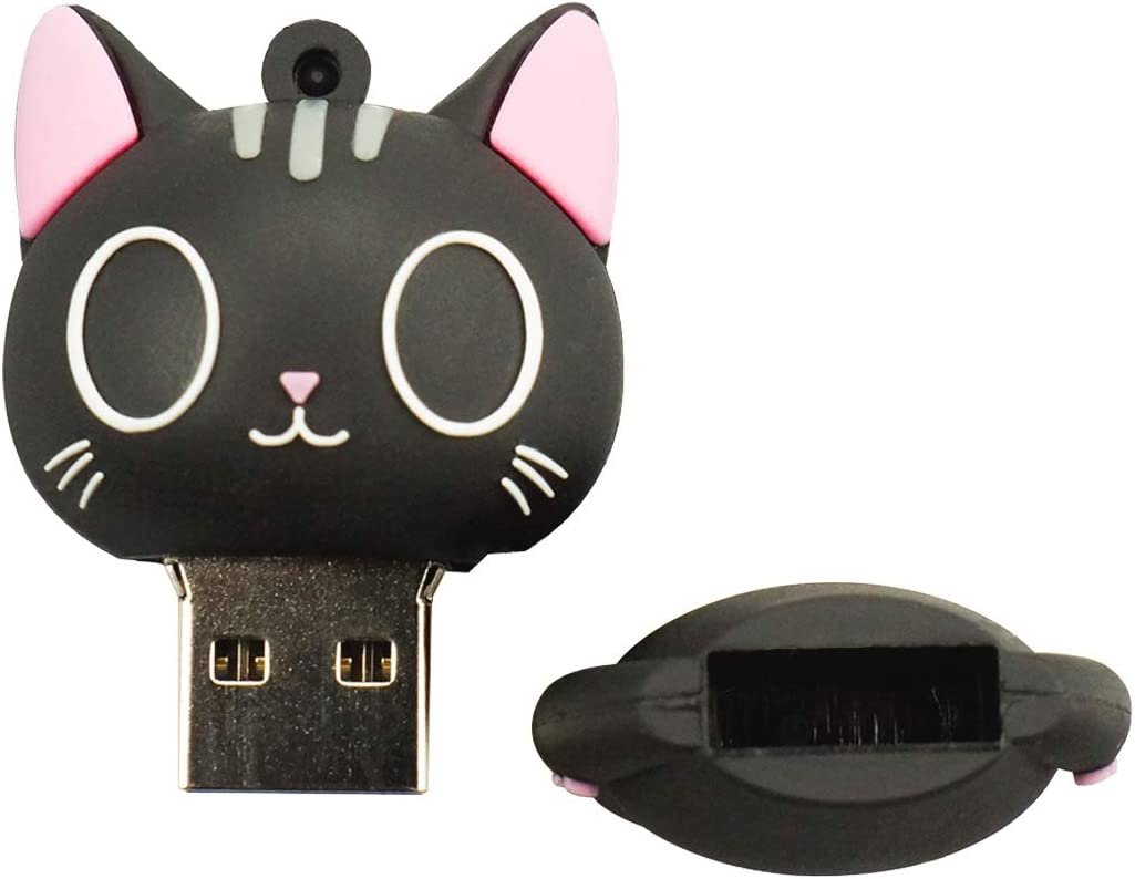 Lightweight Portable High Speed Flash Drive for Cat Lovers 32GB Cat Pat Design USB Flash Drive