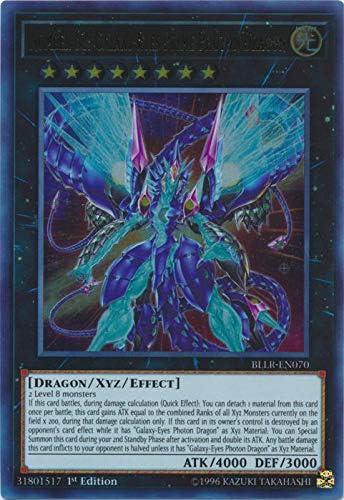 Yu-Gi-Oh BLLR-EN070 Number 62 Galaxy-Eyes Prime Photon Dragon Ultra, 1st Ed.