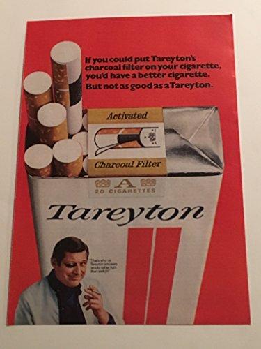 1970 Tareyton Charcoal Filter Magazine Print Advertisement