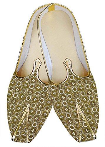 INMONARCH Bodas de Oro Hombres Zapatos de Trabajo de La Máquina MJ01526