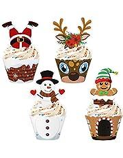 DOITOOL 36 Sets Kerst Cupcake Liners Bakvormpjes Kerst Feest Decoraties Benodigdheden