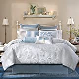 Harbor House Crystal Beach 4-Piece Comforter Set, White, Full