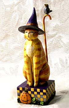Jim Shore – Heartwood Creek – Kitty In A Witch Hat 8 Jim Shore by Enesco – 20-4006135