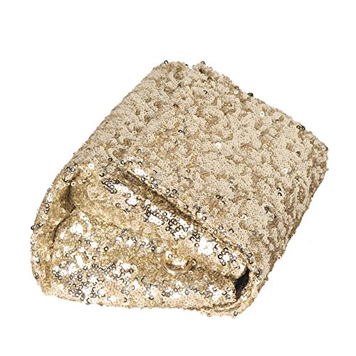 Party with Bag Crossbody Clutch for Chain Women Sparkly and with Wrist Gold Flap Sequin Purse Evening SxSnZI8