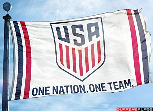 USA Flag Banner 3x5 ft One Nation One Team Soccer Football USMNT