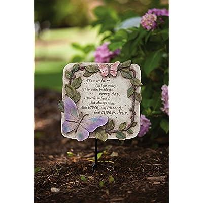 Evergreen Enterprises Those We Love Don't Go Away, Stepping Stone EG25903 : Outdoor Decorative Stones : Garden & Outdoor