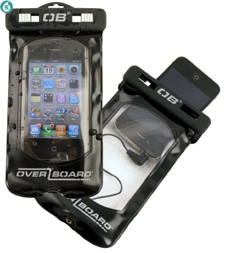 Overboard Waterproof Case for iPhone 5. Great for boating, canoeing, water aerobics, swimming, Kyacking and more.