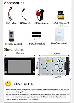 "Upgarde Version With Camera ! 6.2"" Double 2 DIN Car DVD CD Video Player Bluetooth GPS Navigation Digital Touch Screen Car Stereo Radio Car PC 800MHZ CPU !!! by EGood CO., LTD."