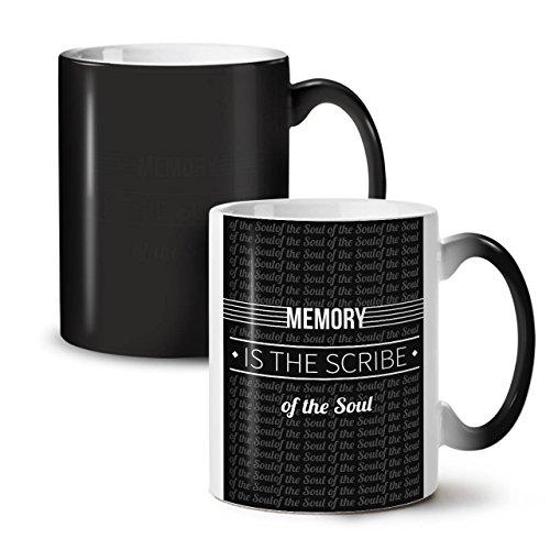 Memory Scribe Soul Soul Black Colour Changing Tea Coffee Ceramic Mug 11 oz | Wellcoda