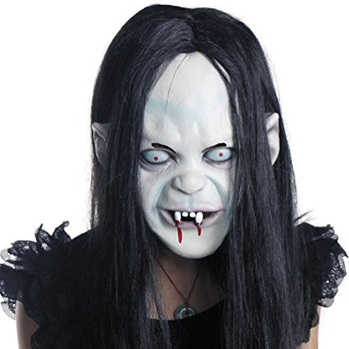 Creepy Scary Halloween Masks, Horrific Latex Zombie Ghost Masks for Cosplay, Halloween, Costume (Cool Scary Masks)